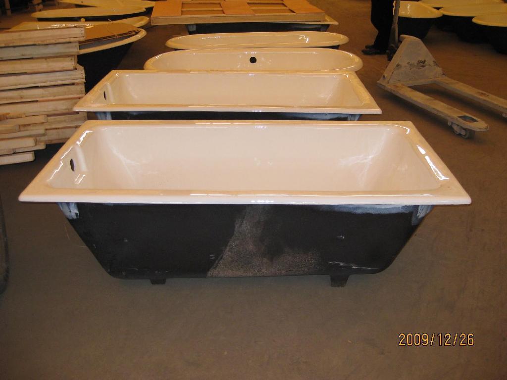 Cast iron bathtub drop-in enameled cast iron bathtub 1