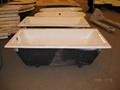 Cast iron bathtub drop-in enameled cast