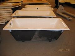 Cast iron drop-in enamel bathtub