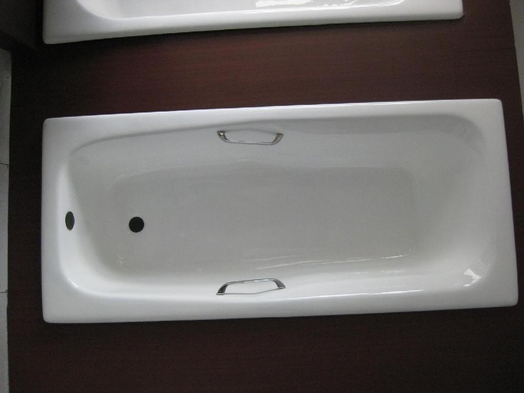 Cast iron bathtub drop-in enameled cast iron bathtub 3