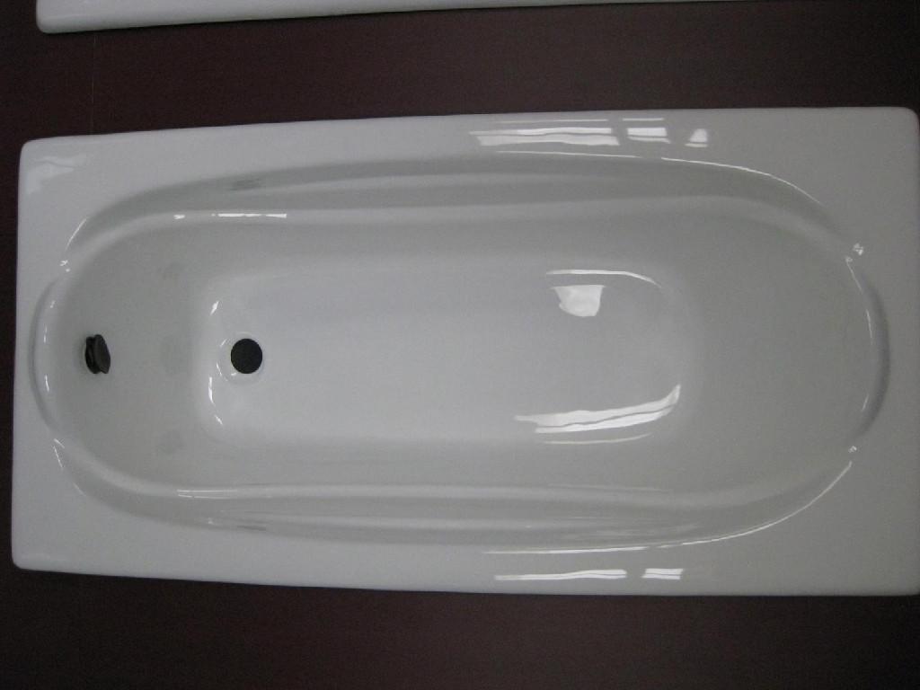 Cast iron bathtub drop-in enameled cast iron bathtub 4