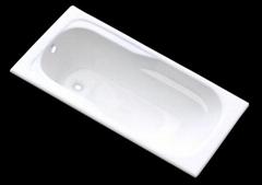 Retangular cast iron enamel bath tub drop-in