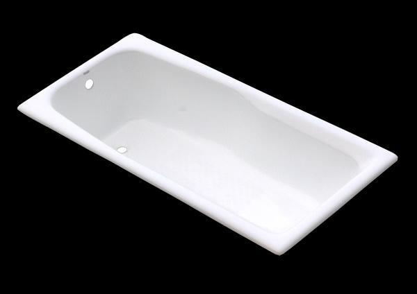 Retangular cast iron enamel bathtub drop-in  5