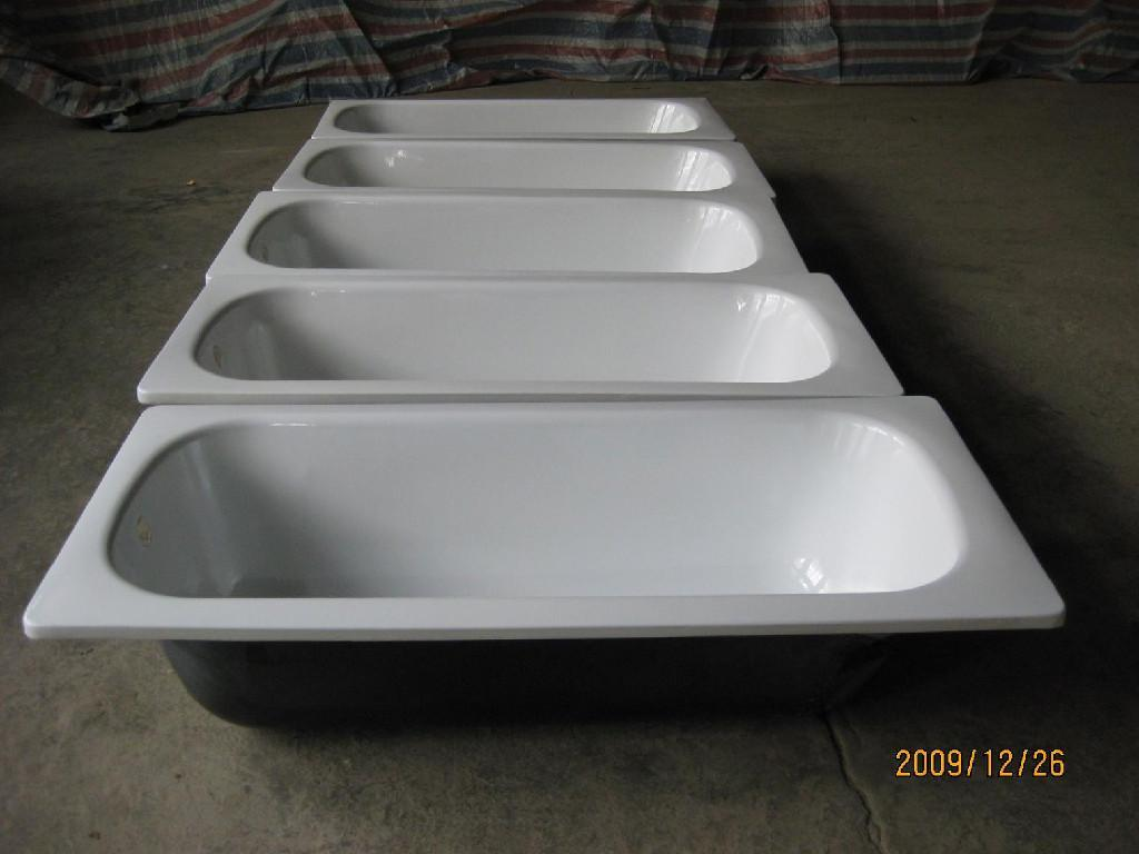 Best quality enameled steel bathtub wholesale distribution made in China 3