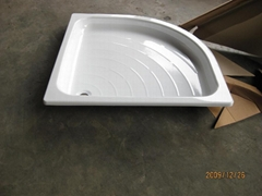 wholesale sector fan steel enamel shower tray best quality