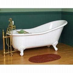 Classical clawfoot cast iron bathtub