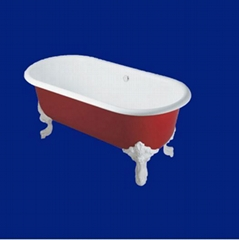 Luxury antique cast iron enamel bathtub