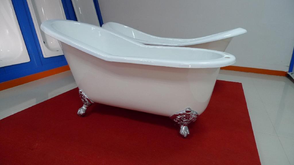 Luxury antique cast iron enamel bathtub 4