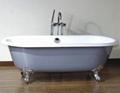 Luxury antique cast iron enamel bathtub 5