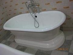 Porcelain royal classical cast iron enamel bath tub