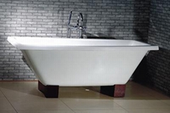 Antique cast iron enamel bathtub TS-08