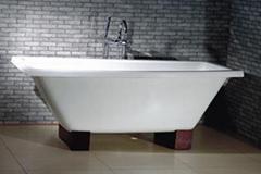 Clawfoot cast iron enamel bath tubs
