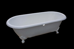Freestanding classical cast iron enamel bathtubs