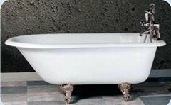 Freestanding cast iron enamel bathtub