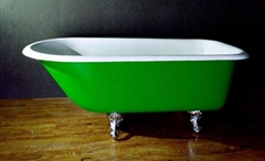 European classical slipper cast iron enamel bathtub