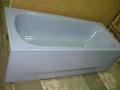 Apron enameled steel bathtub with skirt