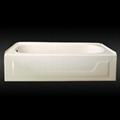 Apron enameled steel bathtub with skirt 2