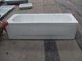 Apron enameled steel bathtub with skirt 4