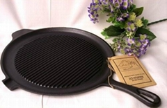Cast iron pre-seasoned grill pan.griddle.dutch oven cookware.bakeware