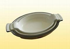 Customized enameled cast iron cookware.baking pan dish pan hot sell