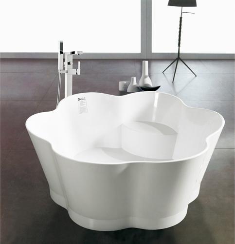 Chinese Stone resin curve bathtub 1