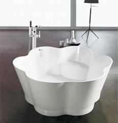 Chinese Stone resin curve bathtub