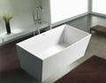 Chinese Stone resin curve bathtub 2