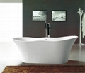 Chinese Stone resin curve bathtub 4