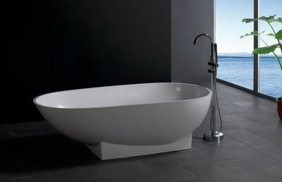 Chinese Stone resin curve bathtub 5