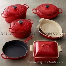 Cast iron enamel cookware kitchen ware casseroles skillets