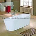 Freestanding modern acrylic bathtub