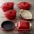 Cast iron enamel mini casseroles