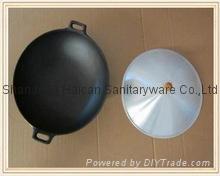wholesale pre-seasoned cast iron cookware kitchenware woks 4