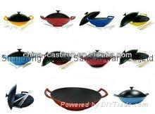 wholesale pre-seasoned cast iron cookware kitchenware woks 5