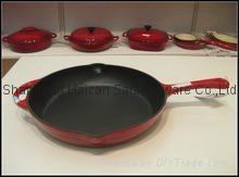 Cast iron frying pan bake ware lowest price with SGS FDA LFGB