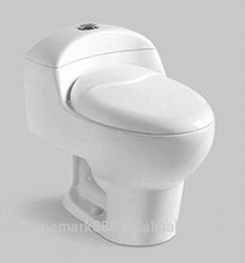 Modern Sanitary Ware Round Shape One Piece Wc Dual Flush Toilet Portable Western