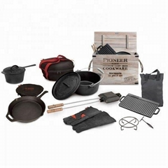 Cast ironbake ware grill pan griddles