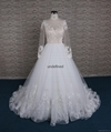 Goreous france lace A-line wedding dress with long  sleeve