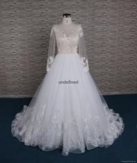 法国蕾丝A-line 婚纱