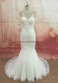 Elegance bateau neckline wedding dress