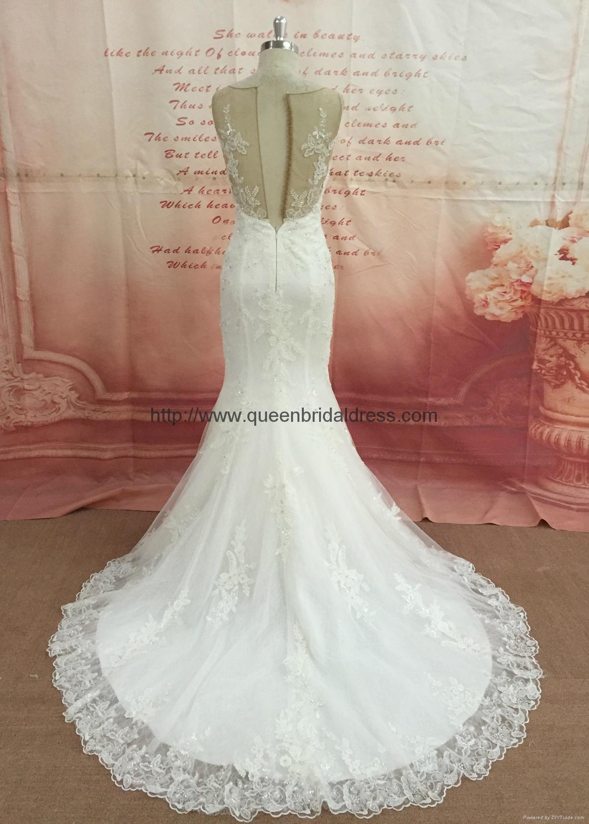 新款魚尾蕾絲婚紗 4