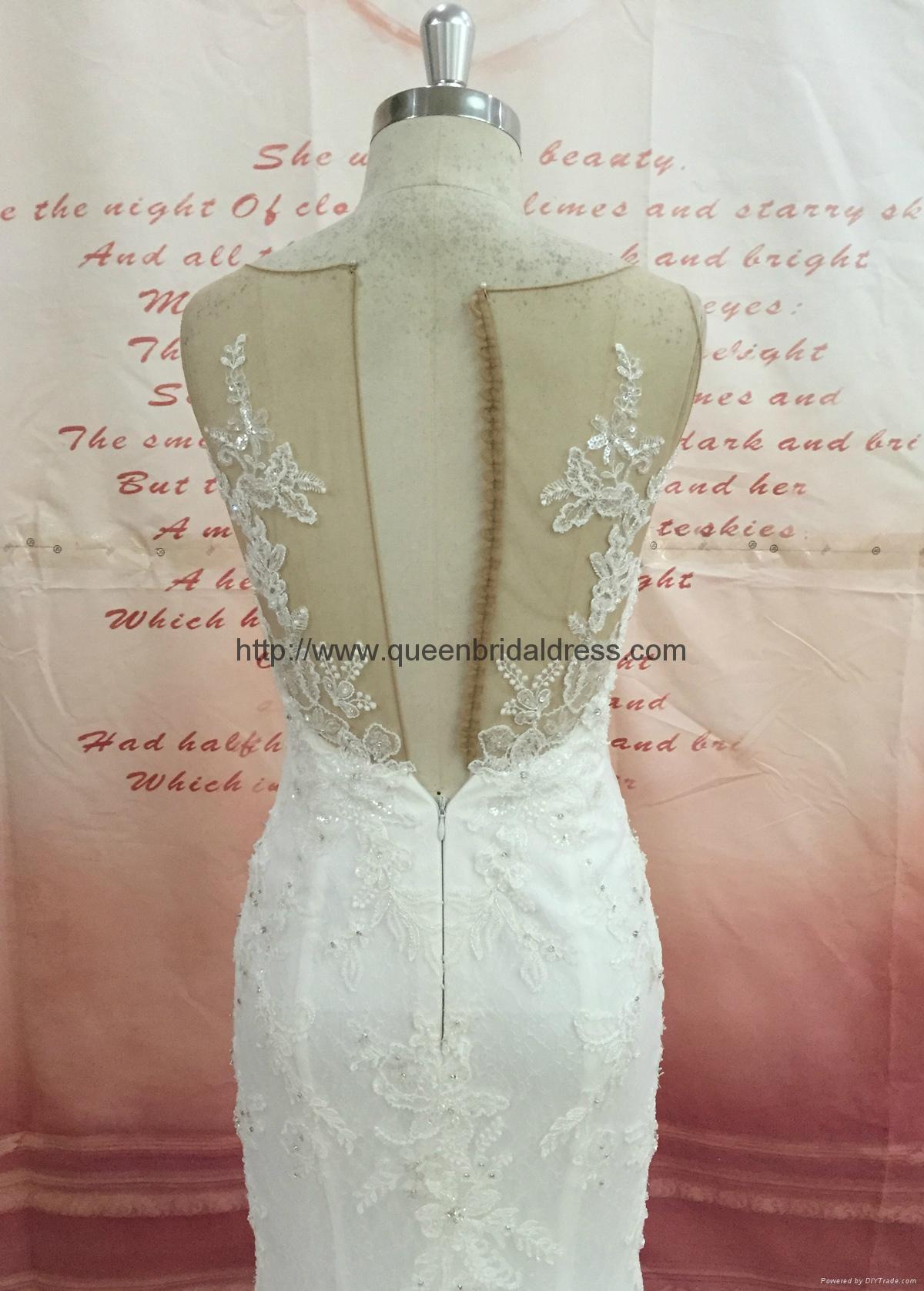 新款魚尾蕾絲婚紗 3