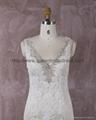 2016 新款V型米色蕾絲婚紗 2