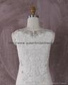 2016 新款V型米色蕾絲婚紗 3
