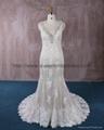 2016 新款V型米色蕾絲婚紗 1