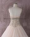 Luxurious strapless  sweetheat A-line wedding dress 3