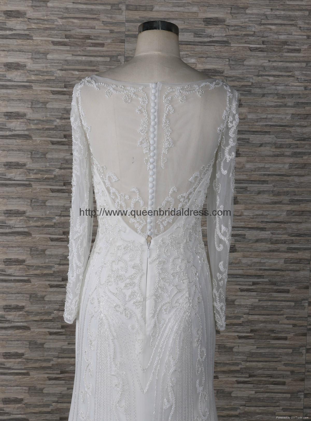 高質量的重工訂珠婚紗 3