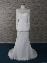 高质量的重工订珠婚纱