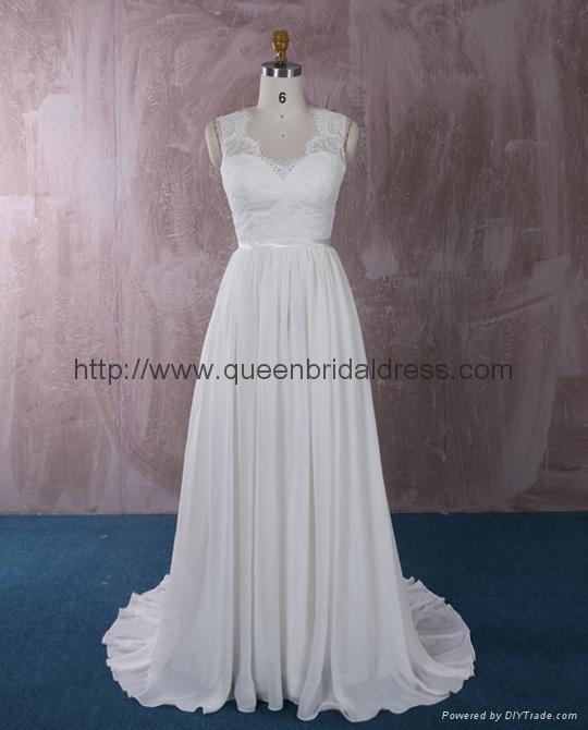 仿古蕾絲雪紡婚紗 1