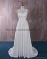 Unique lace chiffon wedding dress